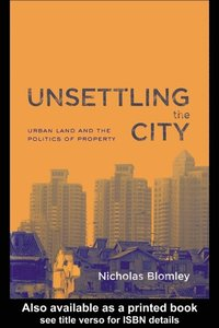 Unsettling the City (e-bok)