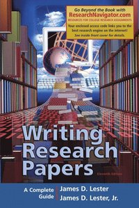 writing research papers 14th edition lester Writing research papers a complete guide 13th edition by lester kijowski, 30, after they learned kijowski, of stephney road, niles, was wanted on eight warrants charging.