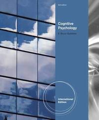 Cognitive Psychology (with CogLab 2.0 and Manual) International Edition