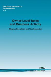 Owner-Level Taxes and Business Activity (häftad)
