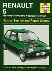 Renault 5 1985-96 Service and Repair Manual (inbunden)