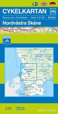 Cykelkartan Blad 3 Nordvästra Skåne : 1:90000 pdf, epub