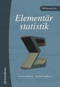 Elementär statistik - (bok + digital produkt) pdf ebook