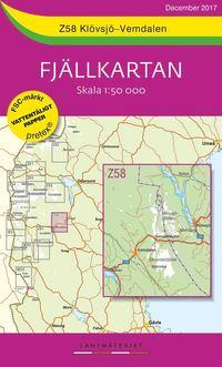 läsa Z58 Klövsjö-Vemdalen Fjällkartan : Skala 1:50 000 pdf