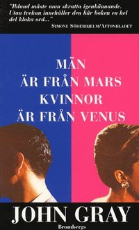 Omslagsbild: ISBN 9789176088340, Män är från Mars, kvinnor är från Venus