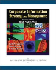 Corporate Information Strategy and Management:  Text and Cases (h�ftad)