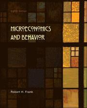 Microeconomics and Behavior (inbunden)