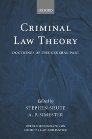 Criminal Law Theory (inbunden)
