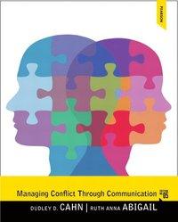 Managing Conflict through Communication (h�ftad)