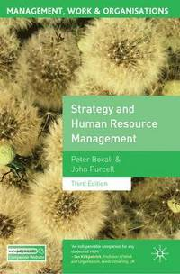 Strategy and Human Resource Management (h�ftad)