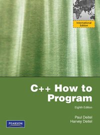 C++ How to Program Pearson International Edition 8th Edition