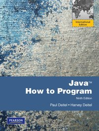 Java How to Program Pearson International Edition 9th Edition ()