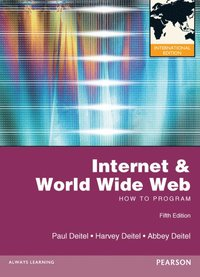 Internet and World Wide Web How to Program International Edition 5th Edition