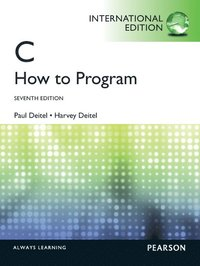 C How to Program International Edition 7th Edition