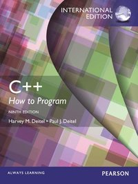 C++ How to Program (Early Objects Version), International Edition