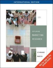 Exploring Marketing Research (h�ftad)