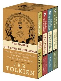 J.R.R. Tolkien 4-Book Boxed Set: The Hobbit and the Lord of the Rings (Movie Tie-In): The Hobbit, the Fellowship of the Ring, the Two Towers, the Retu (inbunden)