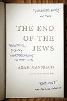 The End of the Jews (inbunden)