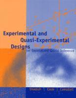 Experimental and Quasi-Experimental Designs for Generalized Causal Inference (inbunden)