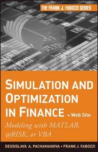 Simulation and Optimization in Finance (h�ftad)