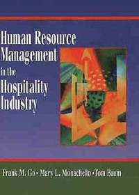 Human Resource Management in the Hospitality Industry (inbunden)