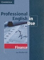 Professional English in Use Finance (h�ftad)