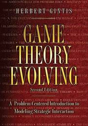 Game Theory Evolving (h�ftad)