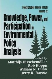 Knowledge, Power and Participation in Environmental Policy Analysis (inbunden)