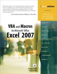 VBA & Macros For Micorosoft Office Excel 2007