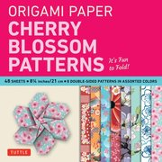 Origami Paper Cherry Blossom Prints Large 8 1 4' 48 Sheets Perfect for Small Projects or the Beginning Folder