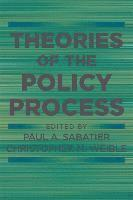 Theories of the Policy Process (h�ftad)