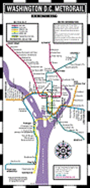 Washington DC Mini Metro Map