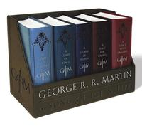 George R. R. Martin's a Game of Thrones Leather-Cloth Boxed Set (Song of Ice and Fire Series): A Game of Thrones, a Clash of Kings, a Storm of Swords, (h�ftad)