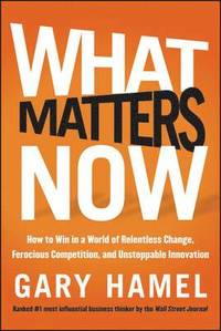What Matters Now (inbunden)