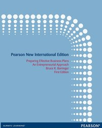 Preparing Effective Business Plans: Pearson New International Edition (e-bok)