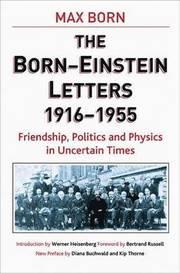 Born-Einstein Letters,1916-1955 (inbunden)