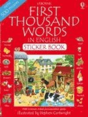First 1000 Words in English Sticker Book (h�ftad)