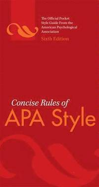 Concise Rules of APA Style ()