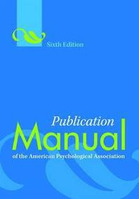 Publication Manual of the American Psychological Association (h�ftad)