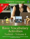 Parleremo Languages Basic Vocabulary Activities Turkish - Volume 4