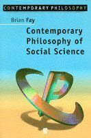 Contemporary Philosophy of Social Science (h�ftad)