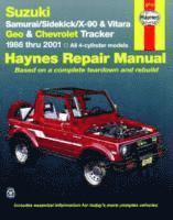 Suzuki Samurai/Sidekick/X-90/Vitara and Geo/Chevrolet Tracker Automotive Repair Manual (h�ftad)