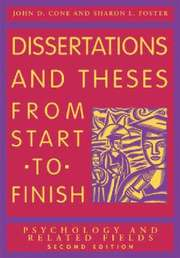 Dissertations and Theses from Start to Finish (häftad)