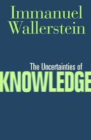 The Uncertainties of Knowledge (h�ftad)