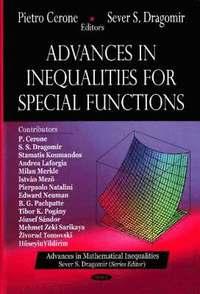 Advances in Inequalities for Special Functions (inbunden)