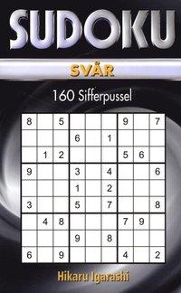 Sudoku Sv�r Svart (pocket)