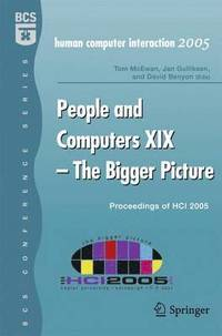 People and Computers XIX - The Bigger Picture (inbunden)