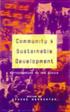 Community And Sustainable Development