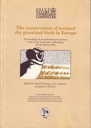 The Conservation of Lowland Dry Grassland Birds in Europe (h�ftad)