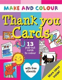 Make and Colour Thank You Cards (kartonnage)